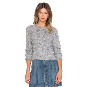 Lovers + Friends x Revolve Darcy Crop Sweater Grey